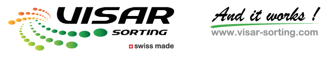 logo visar sorting and it works swiss made